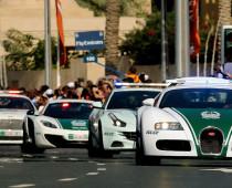 Luxusní auta dubajské policie
