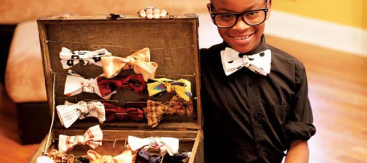 Dvanáctiletý Moziah Bridges vydělal miliony na ručně šitých motýlcích
